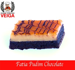 Fatia Pudim Chocolate
